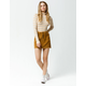 INDIGO REIN Half Button Front Corduroy Mini Skirt