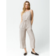 MIMI CHICA Stripe Cami Taupe Womens Jumpsuit