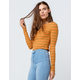 POLLY & ESTHER Stripe Mustard Womens Tee