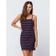 FULL TILT Stripe Ribbed Navy Bodycon Dress