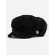 DAVID AND YOUNG Chenille Black Womens Cabby Hat