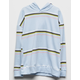 FULL TILT Wide Stripe Blue Girls Hoodie