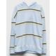 FULL TILT Wide Stripe Blue Girls Hoodie