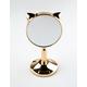DANIELLE CREATIONS Cat Ear Gold Mini Stand Mirror
