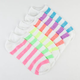 6 Pack Rugby Stripe Womens No-Show Socks
