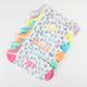 6 Pack Love/Dream/Wish Womens No-Show Socks