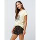 SKY AND SPARROW Floral Black Womens Shorts