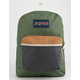 JANSPORT Exposed Muted Green & Soft Tan Backpack
