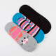 Kitty 3 Pack Womens No Show Socks