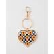 Checkered Daisy Keychain