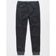 BROOKLYN CLOTH  Marled Zip Black Boys Jogger Pants