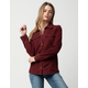 ROXY The Edge Of Wildness Oxblood Red Womens Corduroy Shirt