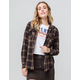 DESTINED Hooded Black Combo Womens Flannel Shirt