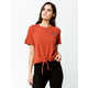 RVCA Rosa Knot Front Womens Crop Tee