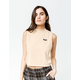 VOLCOM Looking Out Camel Womens Crop Top