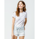 VANS Washed Salt Womens Baby Tee