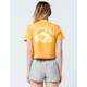 VOLCOM Daisy Nights Womens Crop Pocket Tee