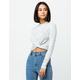 COCO & JAIMESON Twist Front Heather Gray Womens Crop Sweater