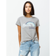 COCO & JAIMESON Knot Front Heather Gray Womens Tee