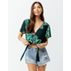 PATRONS OF PEACE Tropic Tie Front Womens Crop Top