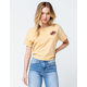 OTHERS FOLLOW Tie Back Yellow Womens Tee