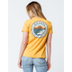 RIP CURL Sunset Search Yellow Womens Tee