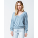 OTHERS FOLLOW Hannah Dusty Blue Womens Sweater