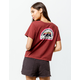 ELEMENT Force Of Nature Burgundy Womens Crop Tee