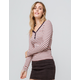 JOLIE Ribbed Stripe Coral Womens Henley