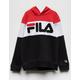 FILA Color Blocked Black & Red Girls Hoodie