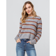 EMORY PARK Stripe Heather Gray Womens Sweater