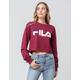 FILA Logo Burgundy Womens Crop Tee