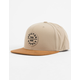 BRIXTON Oath III Tan Mens Snapback Hat