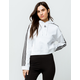 ADIDAS 3 Stripes White Womens Crop Hoodie