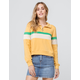 FULL TILT Color Block Half Zip Mustard Womens Sweatshirt