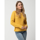 IVY & MAIN Solid Yellow Womens Boyfriend Sweater