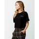 CHAMPION Embroidered Script Logo Black Womens Crop Tee