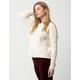 IVY & MAIN Solid Cream Womens Boyfriend Sweater