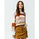 SKY AND SPARROW Multi Stripe Cream Womens Sweater