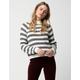 IVY & MAIN Stripe Mock Neck Womens Sweater