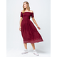 ROXY Pretty Lovers Off The Shoulder Midi Dress