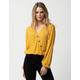 SOCIAL GYPSY Dot Button Front Collar Mustard Womens