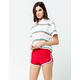 OP Throw French Terry Red Womens Shorts