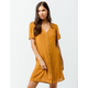 PATRONS OF PEACE Button Front Mustard Dress