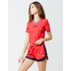 FILA Danita Red Womens Dolphin Shorts