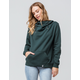 VOLCOM Walk On By High Neck Evergreen Womens Hoodie