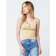 SKY AND SPARROW Henley Womens Tank Top