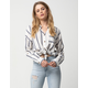 DAY TO DAY Stripe Button Front Womens Shirt