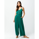 PATRONS OF PEACE Button Front Womens Jumpsuit