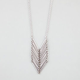 FULL TILT Metal Bar Chevron Pendant Necklace